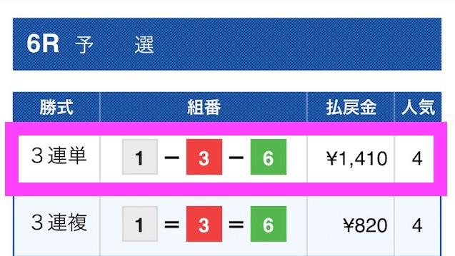 フルスロットルの有料予想2018/06/10_1