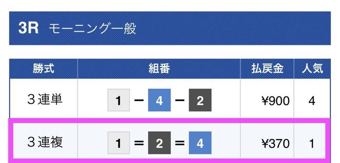 黒舟の無料予想結果2018/10/25_1