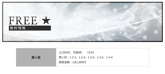 競艇RITZ11月28日無料予想