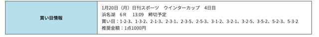 競艇研究エース01月20日無料予想