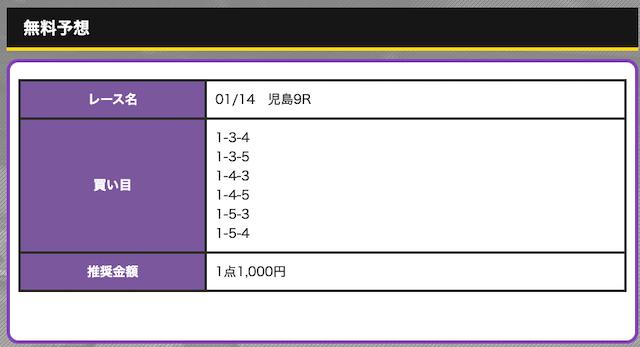 競艇オニアツ01月14日無料予想