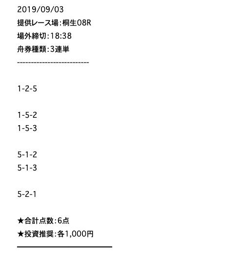 競艇魂の無料予想2019/09/03