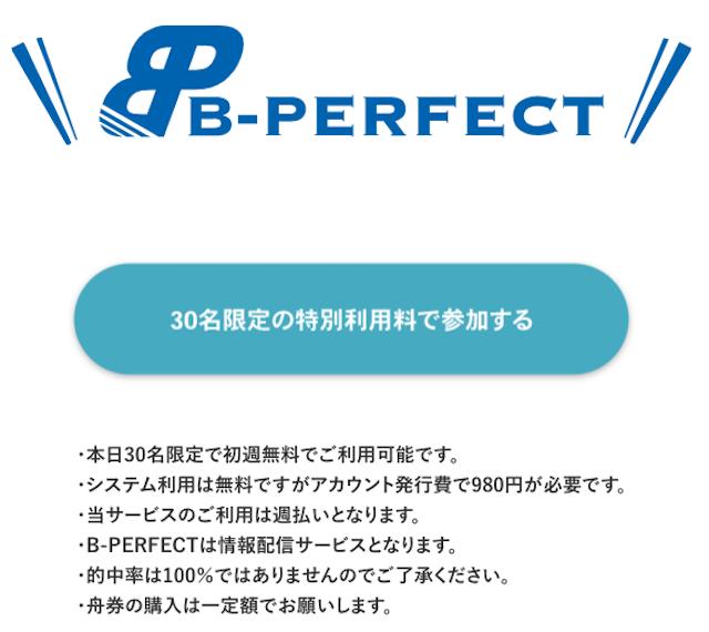 ビーパーフェクトの登録フォーム画像