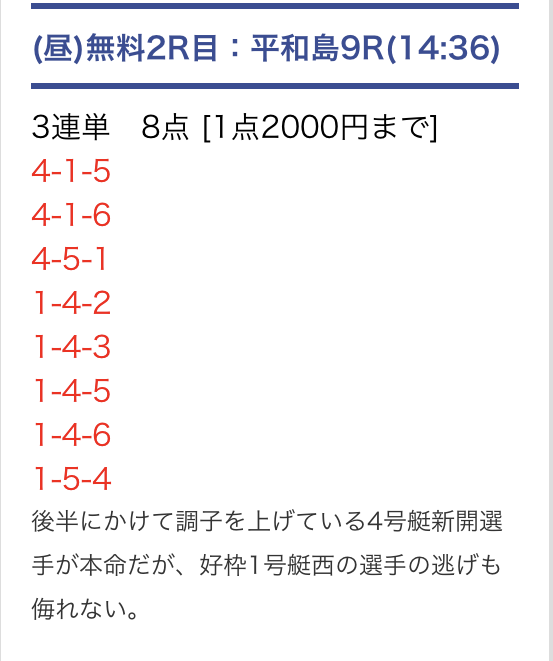 PITの無料予想12/12
